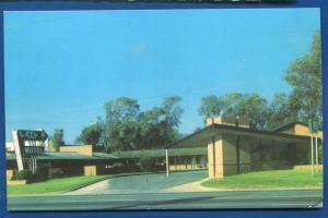 Enid Oklahoma ok Lazy H Motel chrome AAA old postcard