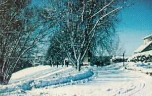 Canada Ontario Oshawa Kingsway College Campus Winter Scene
