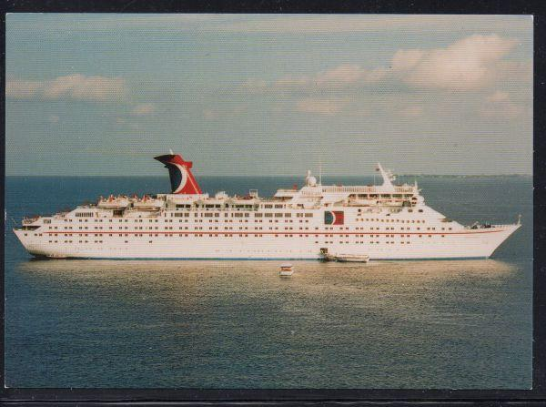 Tropical Carnival Cruise Lines colour PC Grand Cayman unused