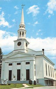 St Johnsbury Vermont~South Congregational Church~1960 Postcard