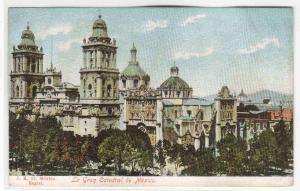 La Gran Catedral Cathedral Mexico 1905c postcard