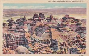 South Dakota The Pinnacle In The Bad Lands Curteich
