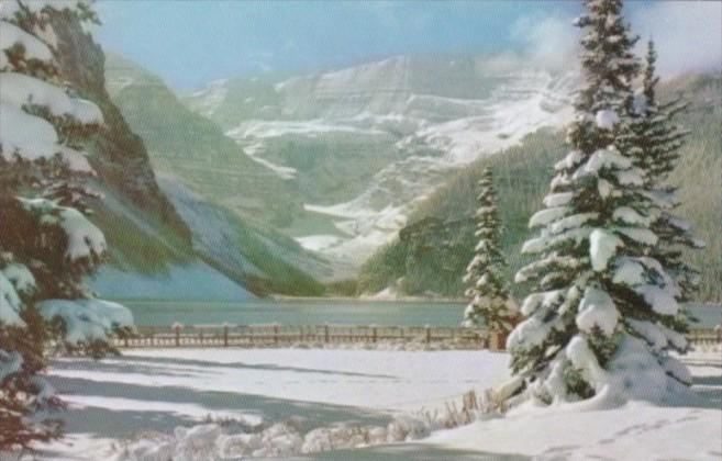 Canada Snowy Winter Blanket At Lake Louise Banff National Park Alberta