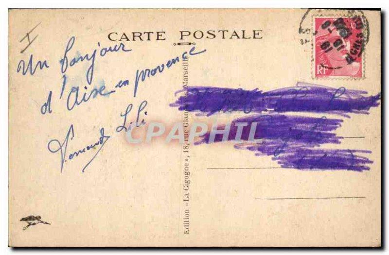 Old Postcard Aix en Provence Hotel Vile
