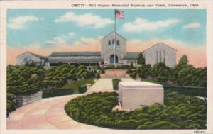 Will Rogers Memorial Museum and Tomb Claremore Oklahoma 1962 Curteich