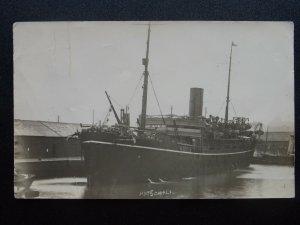 Shipping HMT SOMALI British Troopship in China WW1 c1922 RP Postcard