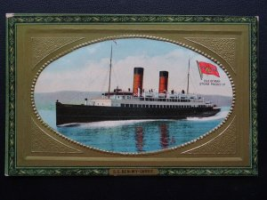 Shipping Steamer S.S. BEN MY CHREE Isle of Man Steam Packet Co. Old Postcard