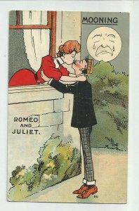 POSTCARD ~ Fantasy Romance ~ Romeo & Juliet ~ Man In Moon~ Mailed 1910