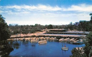 Docks, and Award Winning New Buildings Silver Springs, Florida Postcard