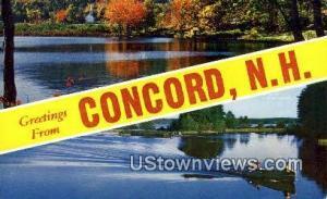 Concord, NH Post Card    ;      Concord, New Hampshire Concord NH Unused