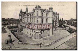 Old Postcard Saint Germain en Laye the castle Panoramic view