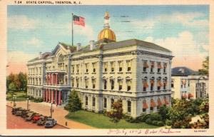 New Jersey Trenton State Capitol Building 1953 Curteich