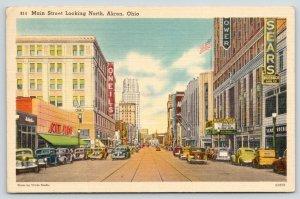 Akron Ohio~Main St North~Scott Store~Sears~Mayflower Theatre~O'Neils~1943 Linen