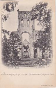 PARIS, France, 1900-1910's; Ruines Des L'Abbaye De Jumieges, Nef De L'Eglise ...