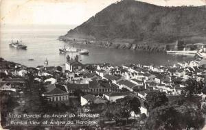 Angra do Heroismo Terceira Island Portugal Birds Eye View Real Photo PC J75753