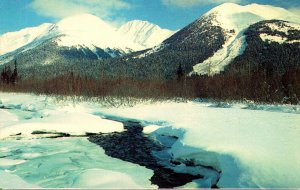 Alaska The 49th State Beautiful Mountain Range Covered In Snow