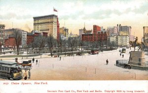 Union Square, Manhattan, New York City, 1905 Postcard, Unused