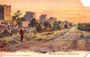 Murs des sept Tours Constantinople Turkey Unused