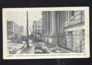LOUISVILLE KENTUCKY 1936 FLOOD DISASTER DOWNTOWN STREET SCENE OLD POSTCARD