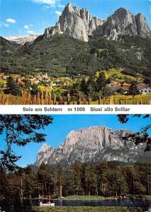 Italy Dolomiten Siusi allo Schiliar ed il laghetto di Fie Lake Panorama