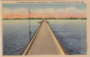Ohio Sandusky Bay Bridge On Ohio Route No 2 Between Sandusky and Port Clinton...