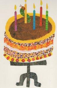 Great Hungry Caterpillar Birthday Cake Eric Carle Book Postcard