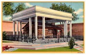 Utah Salt Lake City  Oldest House under pergola on Temple Square