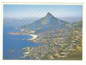 Lion's Head towers above Camps Bay and Clfton, Table Bay, South Africa, 50-70s