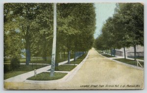 Madison Wisconsin~University of Wisconsin~Langdon Street @ Science Hall~c1910