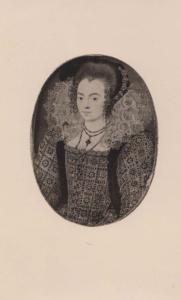 Nicholas Hilliard Unknown Lady 1547 Old Antique Painting Postcard