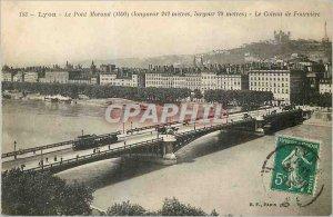 Old Postcard Lyon Morand Bridge (1890) Le Coteau de Fourviere