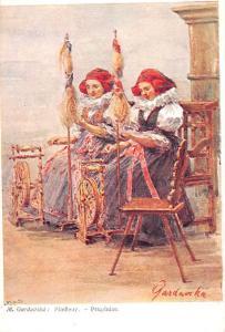 Moravske typy, Pradleny - Przadnice, Marie Gardovska Signed