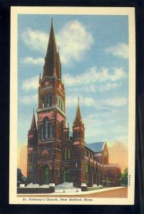 New Bedford, MA/Mass/Massachusets Postcard, St Anthony's Church