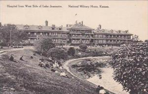 Kansas National Military Home Hospital From West Side Of Lake Jeanette Albertype