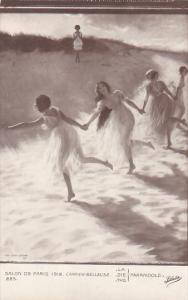 French Girls Dancing Salon De Paris 1912 Carrier Belleuse La Farandole