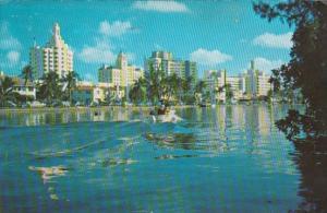 Florida Miami Beach Hotel Row and Indian Creek