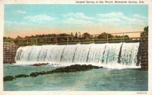 Mammoth Spring, AR, Largest Spring in the World, 1941 Vintage Postcard f9746