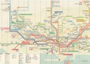 Barcelona Spain Underground Train Subway Map Postcard