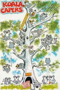 Koala Bear Capers Snakes & Ladders Comic Postcard