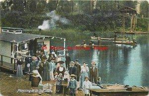 ID, Saint Joe River, Idaho, People Having a Picnic