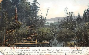 In the Adirondack Mountains Fourth Lake D.P.O. , Discontinued Post Office 1908