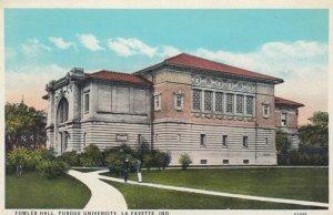 LA FAYETTE, Indiana, 1910s; Fowler Hall, Purdue University
