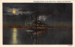 Moonlight seen on the Ohio River Indiana and KY Ohio River KY