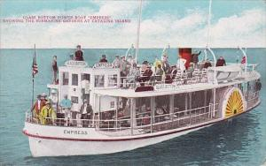 Glass Bottom Power Boat Empress Showing The Submarine Gardens At Catalina Isl...