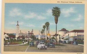 California Westwood Village Street Scene Curteich sk2663