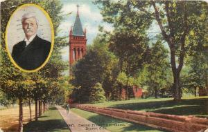 Denver CO~Central Presbyterian Church~Pastor in Cameo Inset~Stone Wall 1908