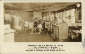 Boston MA Martin Heiligmann & Sons Columbus Ave Antique Restoration RPPC