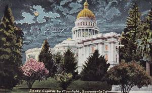 California Socromento State Capitol By Moonlight