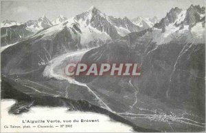 Old Postcard The Aiguille Verte view of Brevent