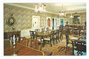 MA Historic Deerfield Inn Dining Room Massachusetts Vtg Walter H Miller Postcard